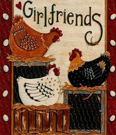 love this for side of cupboards Chicken Coop Signs, Chicken Humor, Chicken Crafts, Chicken Art, Decoupage, Tole Painting, Painting On Wood, Arte Do Galo, Chicken Quilt