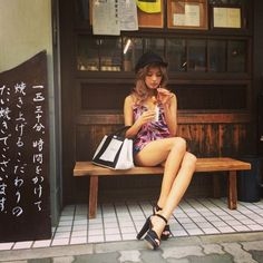 Image of Today's outfit ♪ Mixed Models, People Poses, Japan Model, Japanese Street Fashion, Japanese Models, Asian Style, Beauty Women, Beauty Girls, Cute Girls