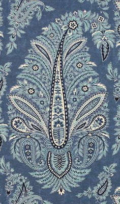 TexturasY❤B <> Wynyard, indigo paisley. Ireland for Scalamandre Textiles, Textile Prints, Textile Patterns, Color Patterns, Print Patterns, Fabric Wallpaper, Of Wallpaper, Paisley Wallpaper, Wallpaper Patterns