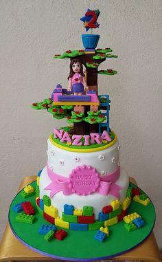 Lego friends– Olivia's tree house Lego Friends Cake, Lego Friends Birthday, Lego Friends Party, 5th Birthday Cake, Lego Birthday, 6th Birthday Parties, Birthday Ideas, Birthday Cake Decorating, Cookie Decorating