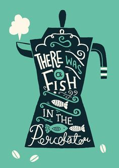 A3 Twin Peaks Art Print - 'There was a fish in the percolator' - Typography / Illustration / Hand Lettering on Etsy, $29.94