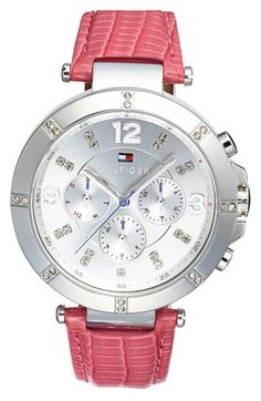 Tommy Hilfiger Multifunction Leather Strap Women's Watch