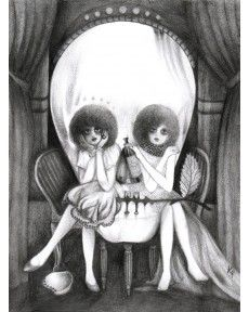 Absinthe minded dark young things, by Katherine Pont Illusion Kunst, Mind Blowing Images, Skull Artwork, Skull Face, Skull And Bones, Op Art, Optical Illusions, Dark Art, Street Art