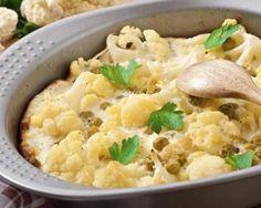 Gratin minceur de petits pois et chou-fleur : http://www.fourchette-et-bikini.fr/recettes/recettes-minceur/gratin-minceur-de-petits-pois-et-chou-fleur.html
