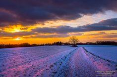 Winter silence  #sunset #landscape #nature #photography in #Leverkusen #Germany