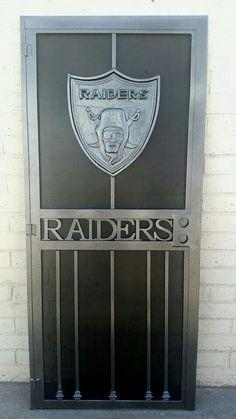 Raiders wrought iron door,I want one