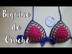 Passo a Passo - Biquine Colorido de Crochê TAM/ P - YouTube