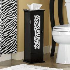 Zebra Bathroom Tissue Holder