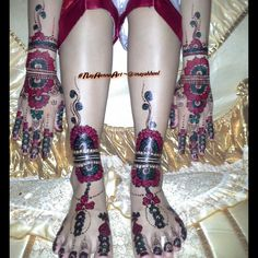 special full color of Nay Henna Art, requested by the bride on her special wedding day..