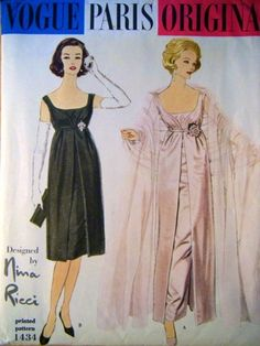 1950's VOGUE PARIS ORIGINAL Pattern 1434 Nina Ricci