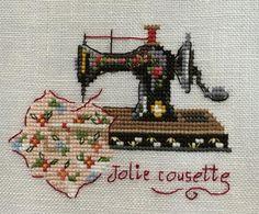 www7b.biglobe.ne.jp ~Les Brodeuses Parisiennes «Jolie cousette» «trois petites valices» Creation Point De Croix 29 V.Enginger