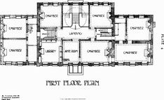 the Great House, Leyton, Plate 4: First floor plan | British History Online