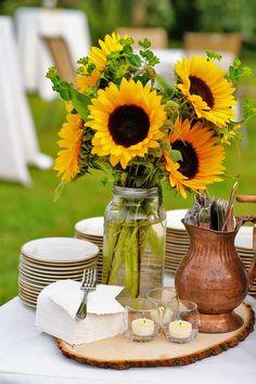 sunflower wedding decor ideas ulysses photography / http://www.himisspuff.com/country-sunflower-wedding-ideas/17/