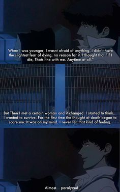 Cowboy Bebop: The Movie  that is meaning of love for spike. He is just on other level.
