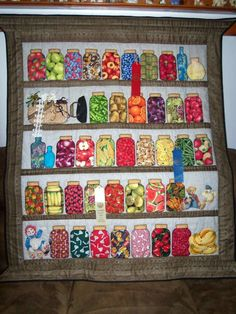 Canning jar quilt Quilt Stitching, Applique Quilts, Quilt Patterns Free, Block Patterns, Barn Quilts, House Quilts, Quilting Projects, Quilting Ideas, Sewing Projects