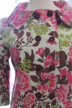 This cote was made using the Colette Anise sewing pattern and Joel Dewberry home dec fabric. Find Both at Stitchology. Winter Looks, Winter Outfits, Floral Tops, Sewing Patterns, Kimono, Coat, Fabric, Jackets, Inspiration