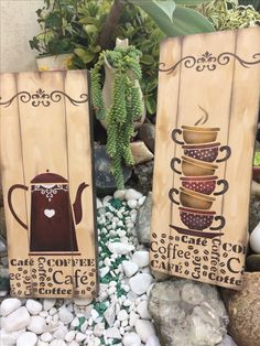 Pallet Painting, Tole Painting, Painting On Wood, Arte Pallet, Pallet Art, Mirrored Picture Frames, Decoupage Vintage, Country Paintings, Coffee Signs