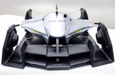 The Audi Airomorph concept car has been designed by Art Center College of Design student Eric Kim and uses fabric panels to adjust its aerodynamics, which have been inspired by racing catamarans.