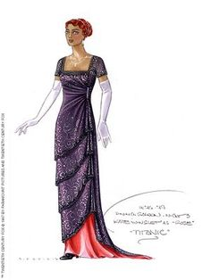 From Titanic, it's a sketch of Rose's dress when she went to dinner! I LOVE IT!