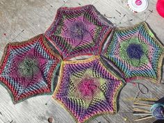 knitted con varias agujas