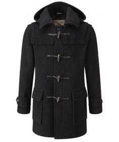 Mens London Duffle Coat - Black