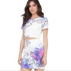 Nwt Multi Color Mini Dress Sz S