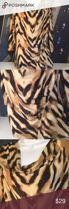 Animal print blouse In excellent condition! Milano Tops Blouses