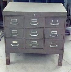 Brown Metal File     SOLD !!