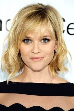 Reese Witherspoon Curly Bob with Cut-out Bangs