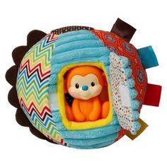 Infantino Go Ga Ga Patchwork Ball with monkey teether