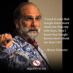 """""""Solía bromear que Google sabe más sobre mí que mi esposa. Ahora sé que Google sabe más sobre mí que yo"""". - Bruce Schneier (criptógrafo experto en seguridad informática y escritor). Qué tanta información personal compartes en las redes sociales y en la web?. Los buscadores recopilan datos de las consultas que realizamos a diario y eso forma parte de nuestro historial digital. La educación para el correcto uso de la tecnología es indispensable pues garantiza que tengas privacidad y seguridad…"""