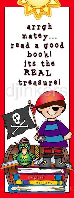 pirate bookmark, pirate clip art