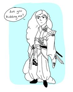 Attack on Titan/InuYasha crossover - Erwin Smith/Sesshomaru - Missing Arm - Fan art by: The Snort Milker (n0izx)