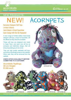 An overview of all of the Acornpets