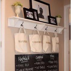 Great laundry room/mud room idea!