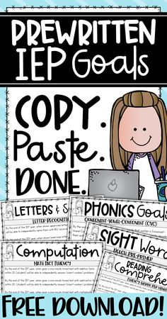 This freebie is perfect for special education teachers I know how LONG it takes to write IEPs The time effort and energy that it takes to write one IEP is crazy Multiply. Math Fact Fluency, Reading Fluency, Teaching Special Education, Primary Education, Kids Education, Special Education Quotes, Childhood Education, Learning Support, Differentiated Instruction