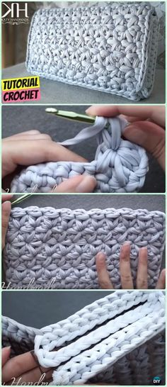 Crochet Star Stitch Clutch Free Pattern Video - Crochet Clutch Bag & Purse Free Patterns