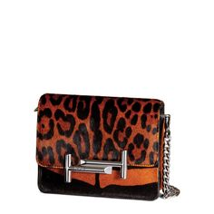 TOD'S Tod'S Double T Umhängetasche Mini. #tods #bags #animal print #