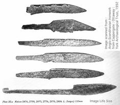 Additional blades found at the Viking Age levels at Coppergate, York, England.