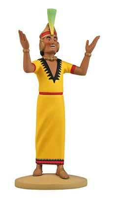 TINTIN FIGURINE NUMERO 27 COLLECTION disponible en France et en Belgique. Référence de la figurine : L'INCA, Le Temple du Soleil, planche 59, case C4