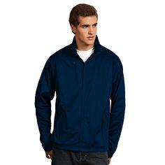 Men's Antigua Tempest Water-Resistant Golf Jacket, Size: Medium, Blue (Navy)