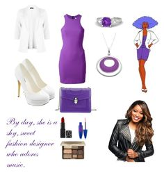 """Shana Elmsford"" by you-shine-like-gold ❤ liked on Polyvore featuring Michael Antonio, T By Alexander Wang, Bulgari, Maybelline, Too Faced Cosmetics, Gemvara, cute, tvshow, jem and Whatshouldhavebeenthemovie"