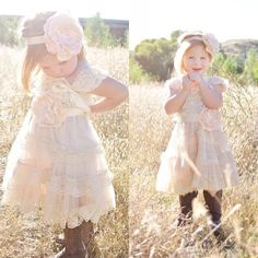 2016 New Flower Girl Dresses Pettidress Vintage for Kids Baby Pageant Formal Wear Weddings Shabby Chic Rustic Infant First Communion Gowns