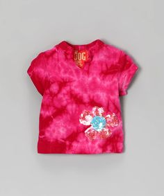 Take a look at this Fuchsia Tie-Dye Dog Tee by Twinkle Couture on #zulily today!