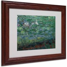 Trademark Fine Art The Waterlily Pond Green Canvas Art by Claude Monet, Wood Frame, Size: 16 x 20, Multicolor