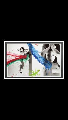 "Nobuyoshi Araki - "" Kaori love (Diptych) "", 2007 - Acrylic on b/w photograph - 91,5 x 111,5 cm"