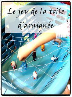jeu toile araignée, activité enfants, halloween, motricité enfant