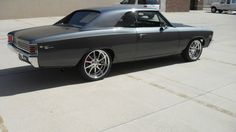 1967 Chevrolet Chevelle SS 454 Pro Touring grey budnik gasser wheels - WOW, had one in 83 two tone tho. Boy am I due.