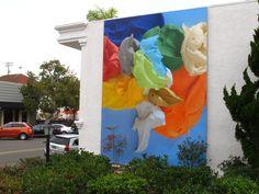 """""""Applied"""" - Richard Allen Morris.  Mural in La Jolla."""