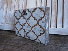 Wooden Clip Frame/moroccan/quatrefoil design by thewoodedlane, $15.00
